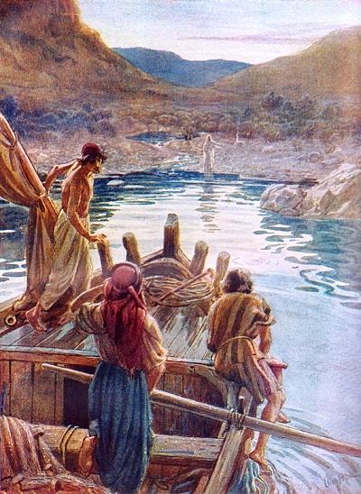 Jesús resucitado junto al lago